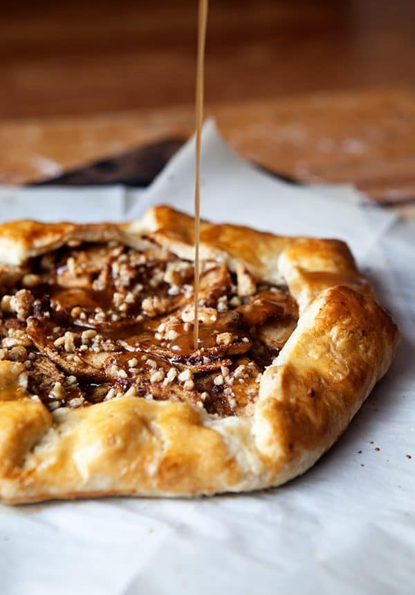 Cinnamon Apple Galette with Salted Maple Glaze