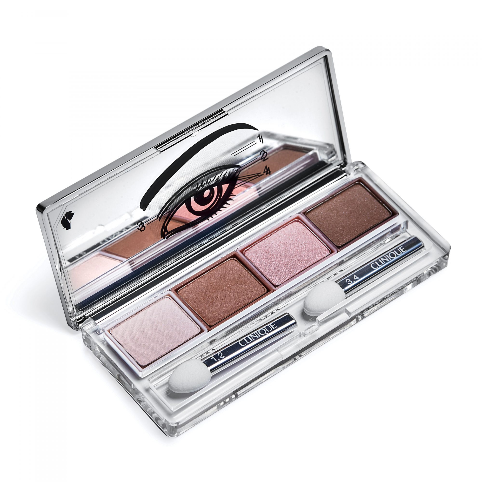 Clinque All About Shadow Quad in Pink Chocolate