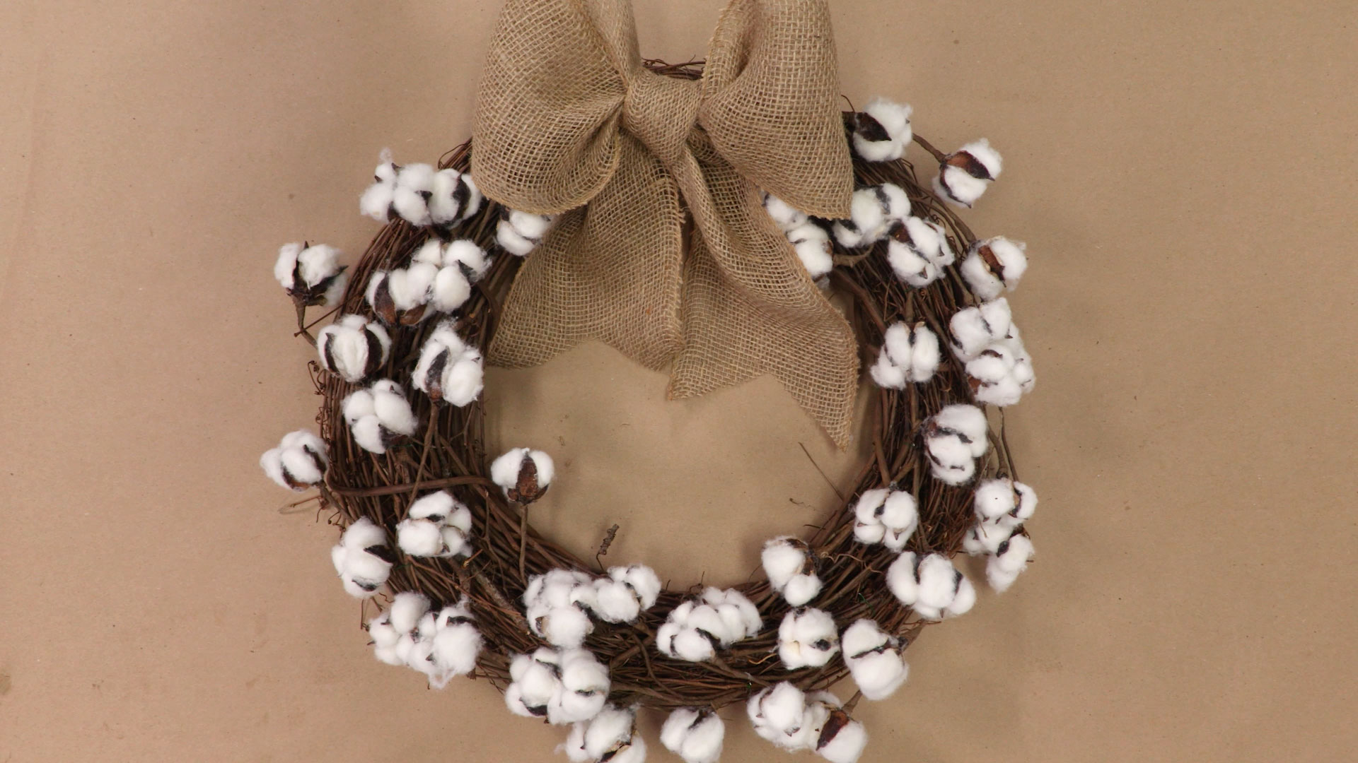 Cotton Boll Wreath