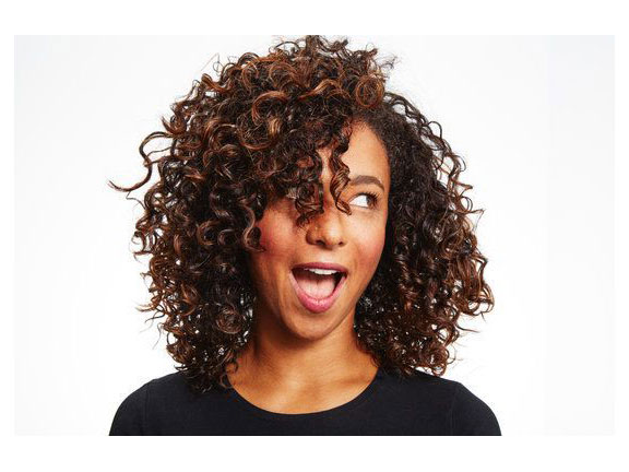 For Curly Hair: Natural Mid-Length