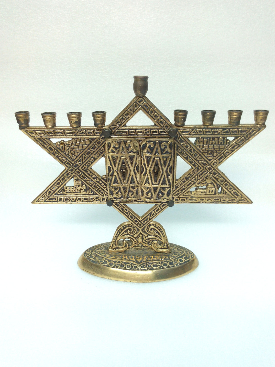 Detailed Star of David Menorah