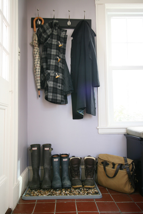 15 Mudroom Ideas We're Obsessed With Create a DIY Boot-Drying Area