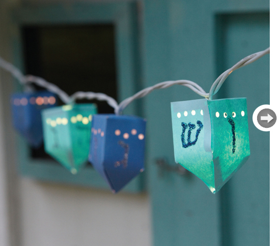DIY Dreidel String Lights