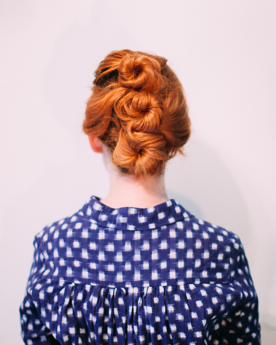 Easy Three-Bun Updo
