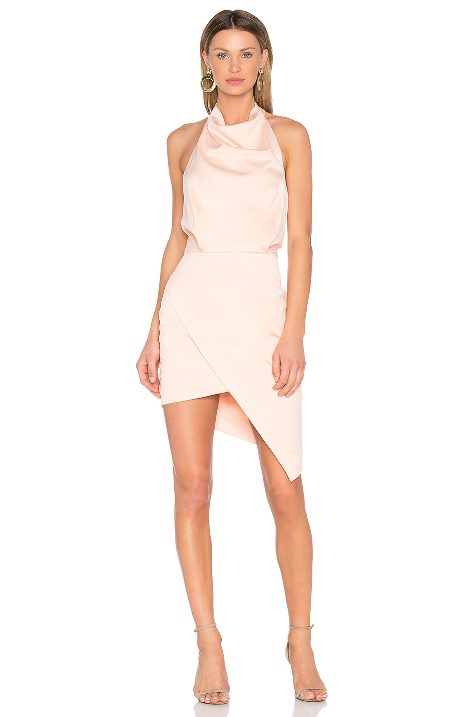Sleek and Silky Halter Dress