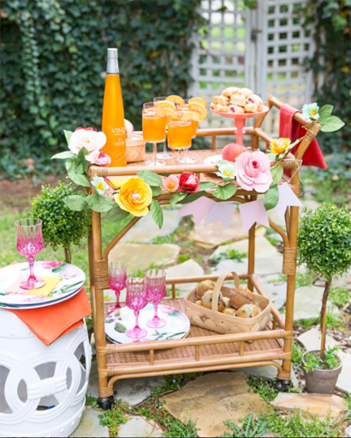 Colorful Bar Cart Courtney Whitmore