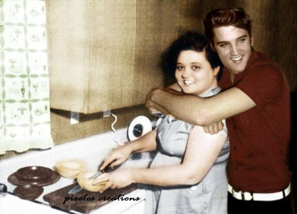 Elvis Presley and Mom Gladys