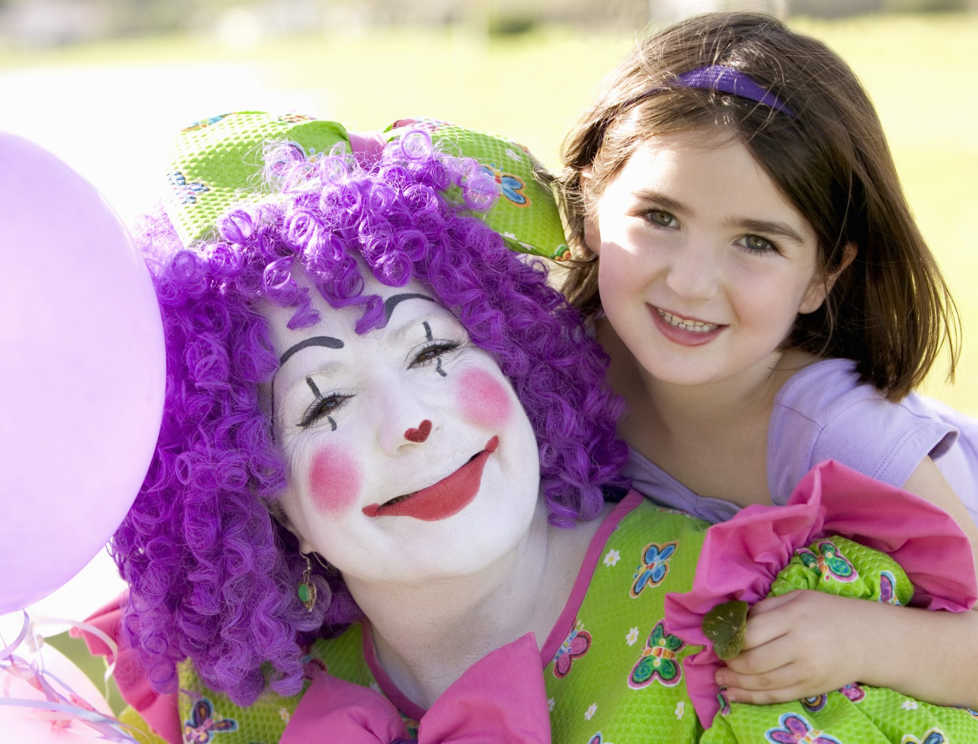 Female Clown with Child