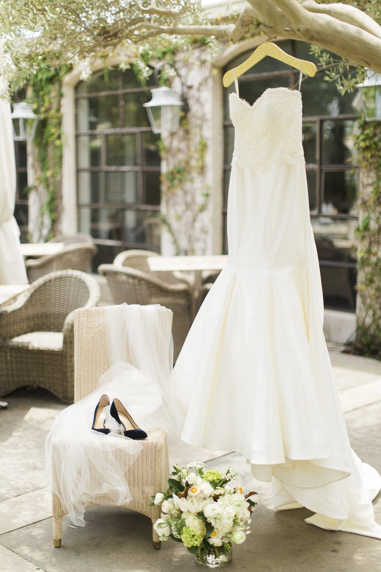 Timeless Bridal Style With a Bold Blue