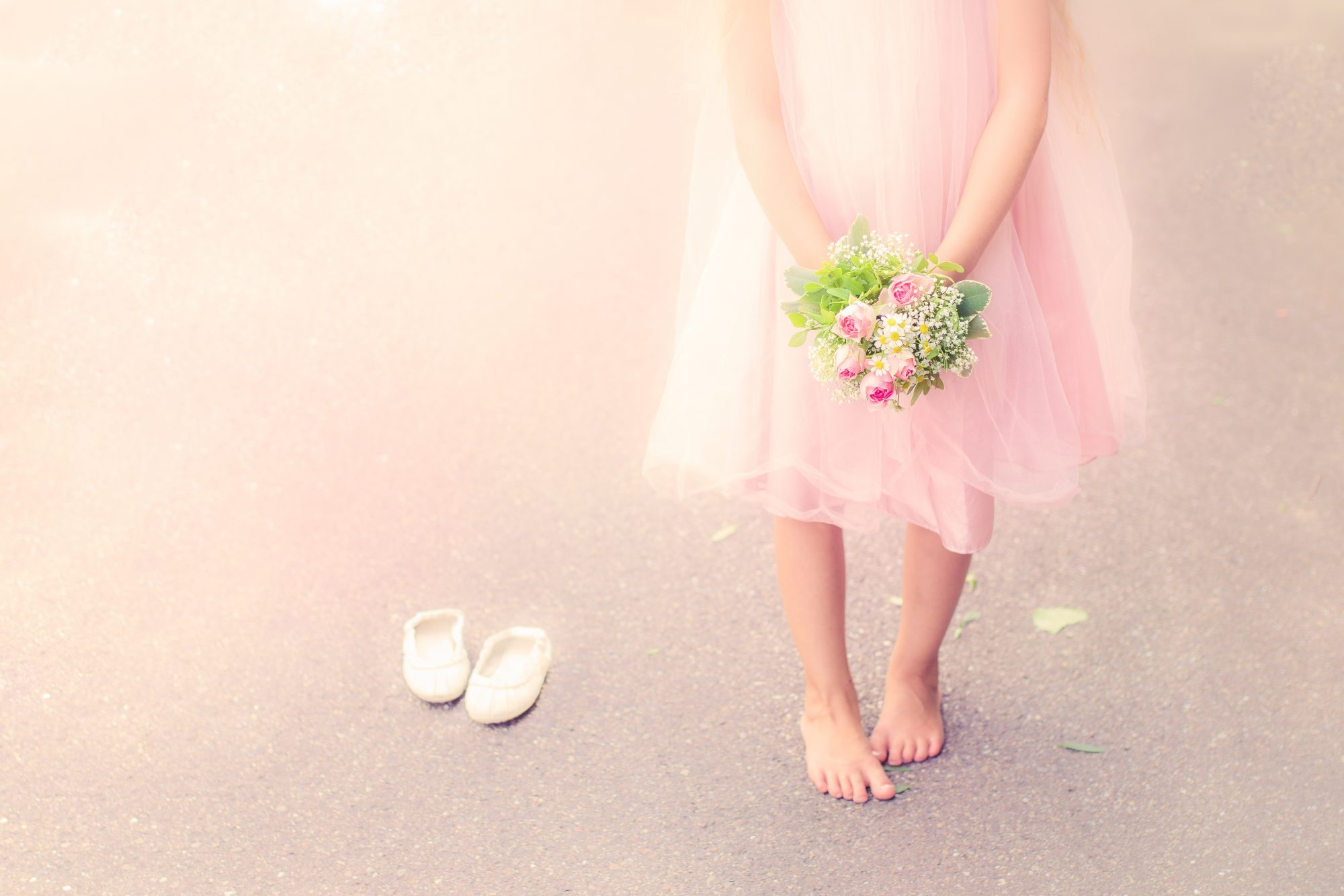 Most Adorable Flower Girl Dresses Flower Girl Stock Image