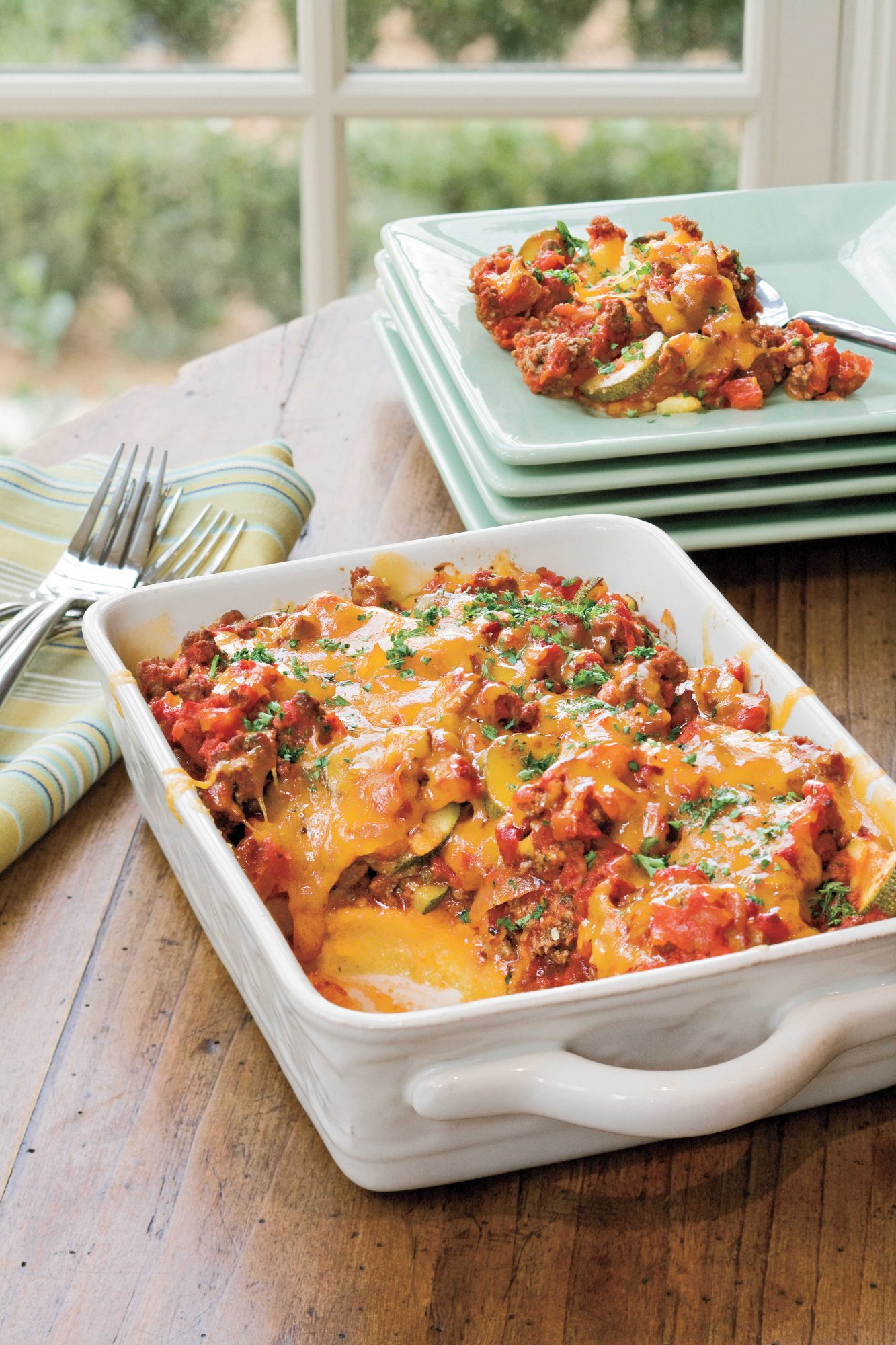 Tomato 'n' Beef Casserole with Polenta Crust