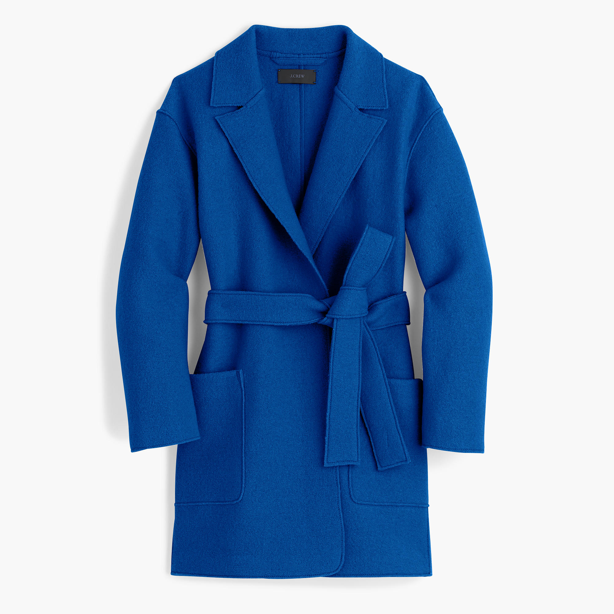 Jcrew Wrap Coat in Boiled Wool