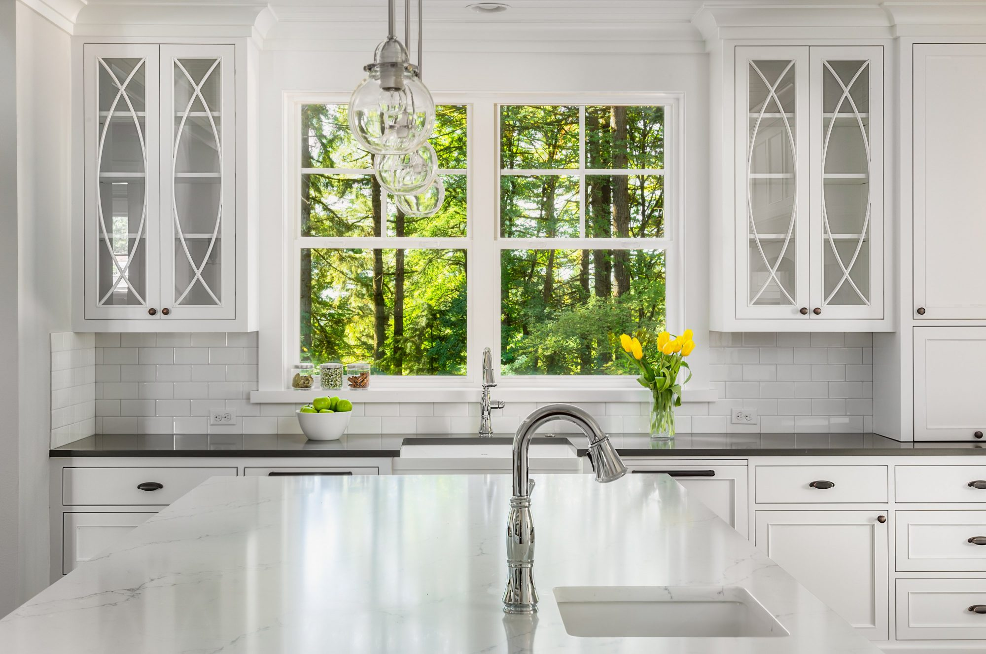 White Kitchen Detail in New Luxury Home