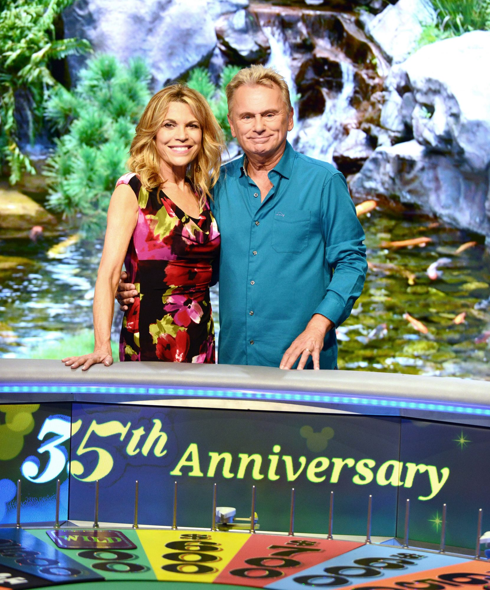 Vanna White and Pat Sajak Wheel of Fortune 35th Anniversary
