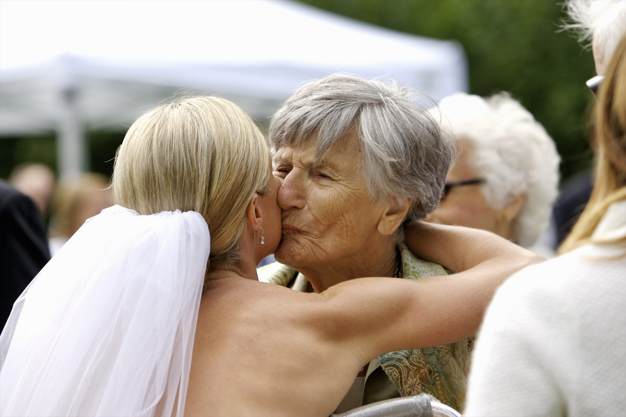 Bride Kissing Grandmother