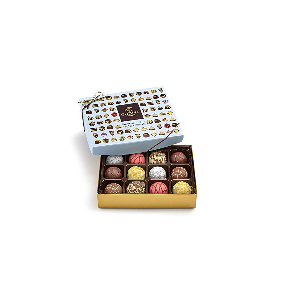 Godiva Chocolatier 12-Piece Patisserie Chocolate Truffle Gift Box