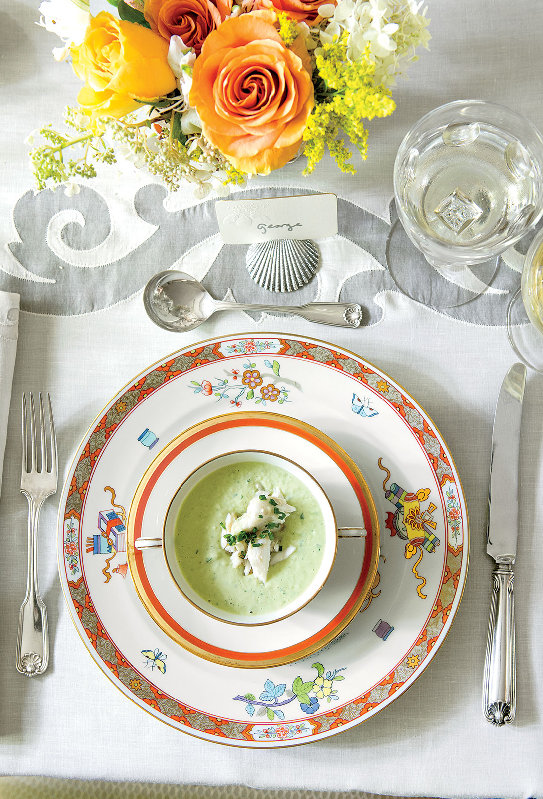 Green Goddess Soup with Lump Crabmeat