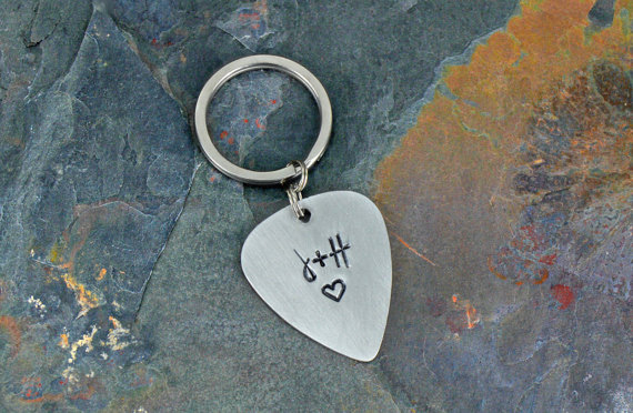 Guitar Pick Keychain