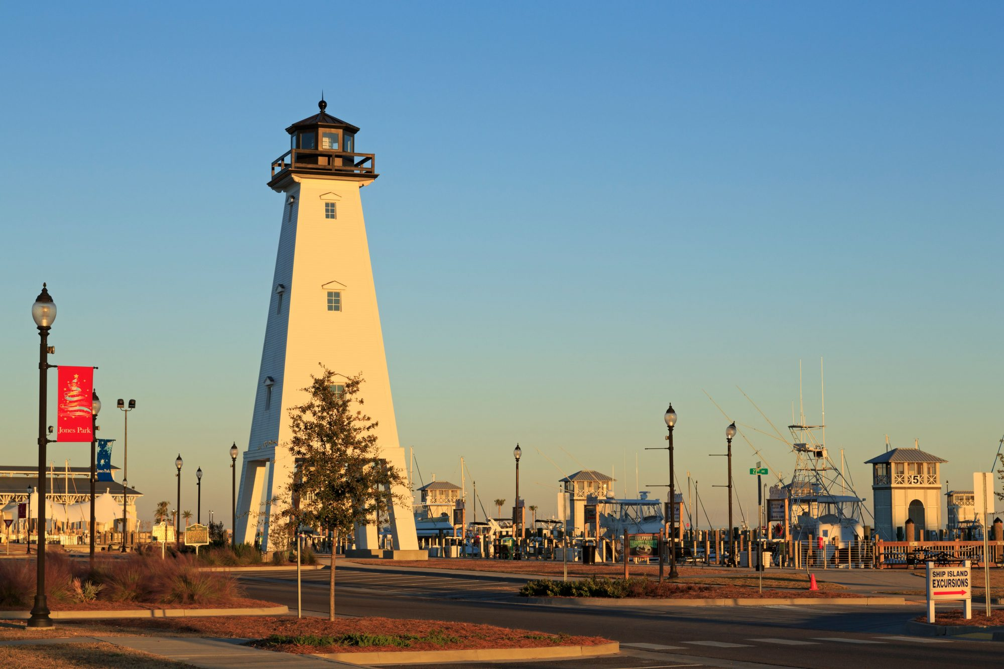 Offshore barrier islands protect the waters of Gulfport's beachfront, keeping the surf gentle and allowing swimmers of all ages and skills to frolic in the clear waters of the Gulf. Ferries from Gulfport provide access to said barrier islands for...