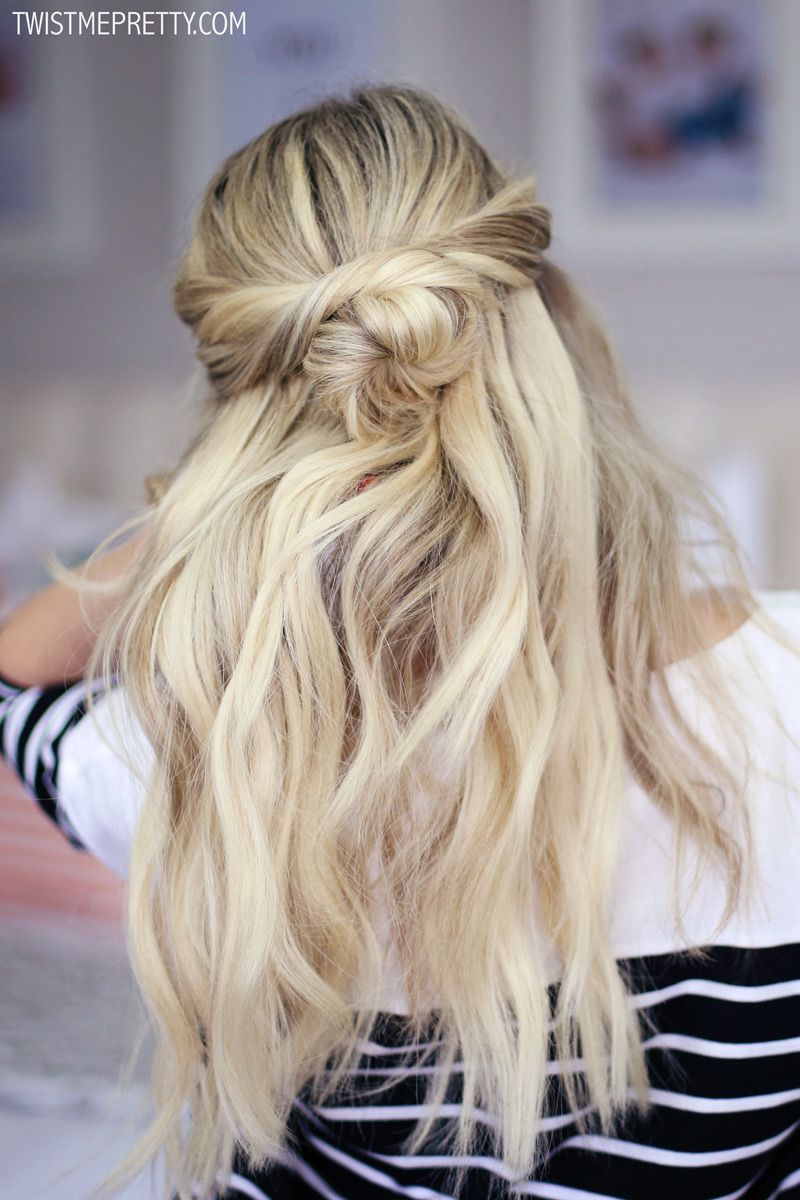Half-Up Twisted Bun