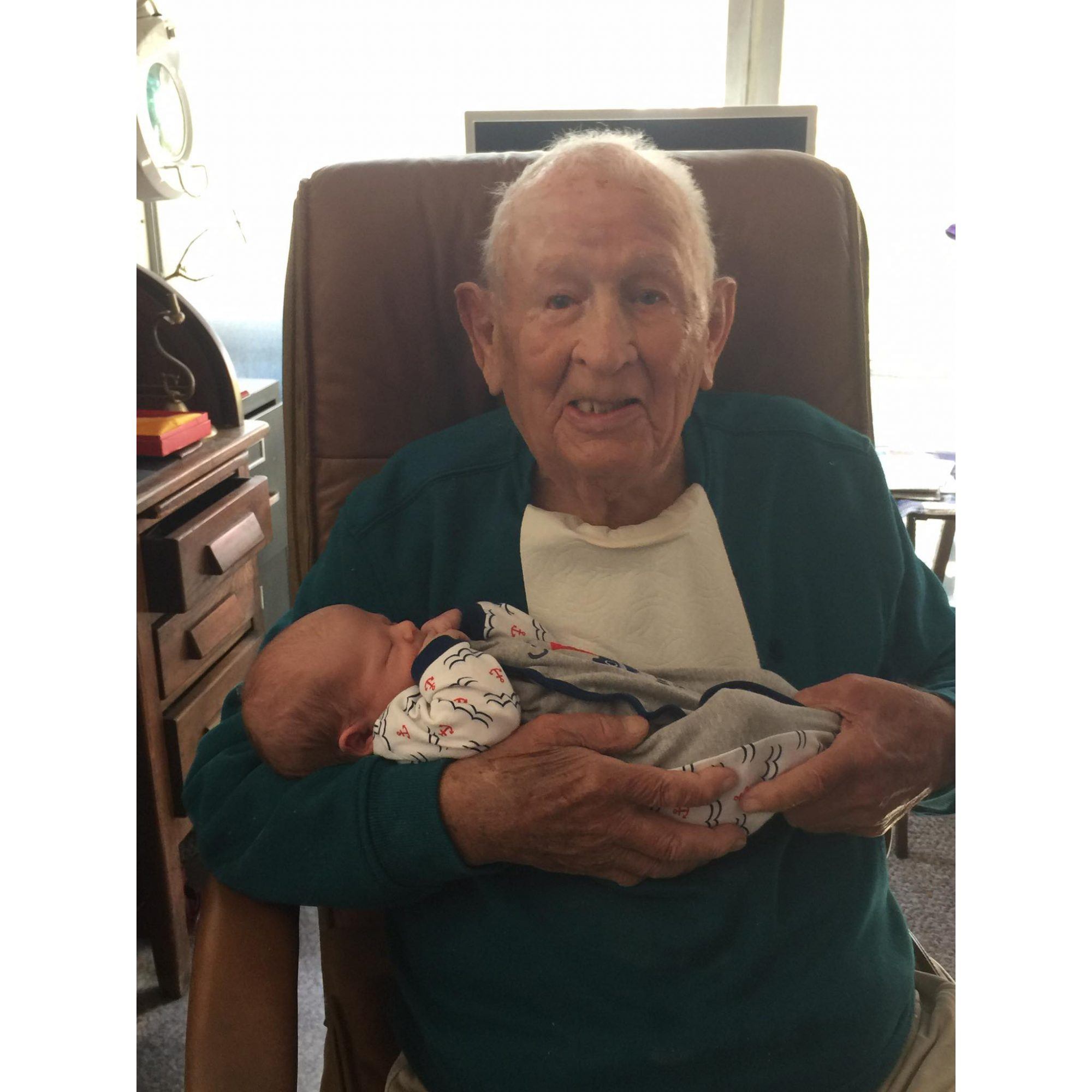 James Herald Spring Holding Great Grandson