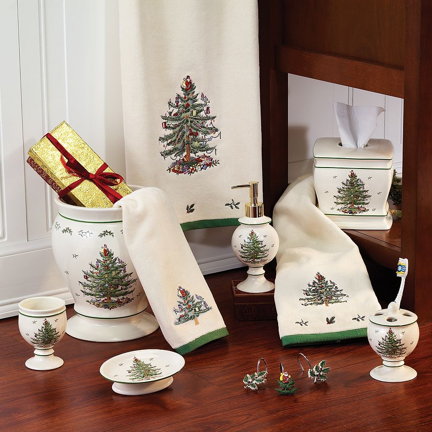 Stock Up On These Holiday Decorations Now Kohl's Christmas Bathroom Accessories