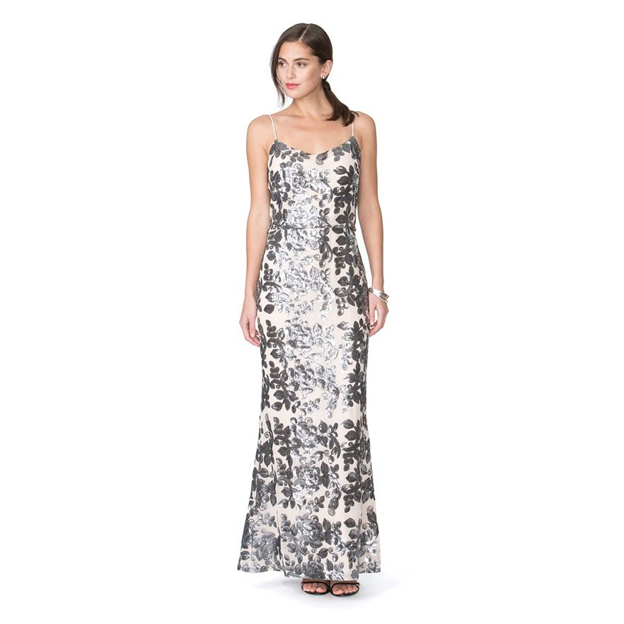 Kohl's Women's Chaps Floral Chiffon Evening Gown