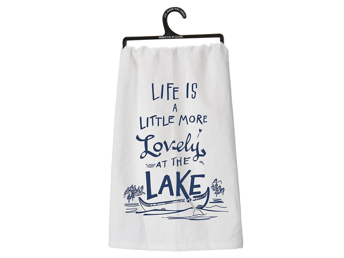 Life Is a Little More Lovely At the Lake Tea Towel