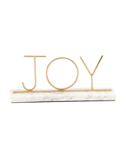 Joy Sign On Marble Base