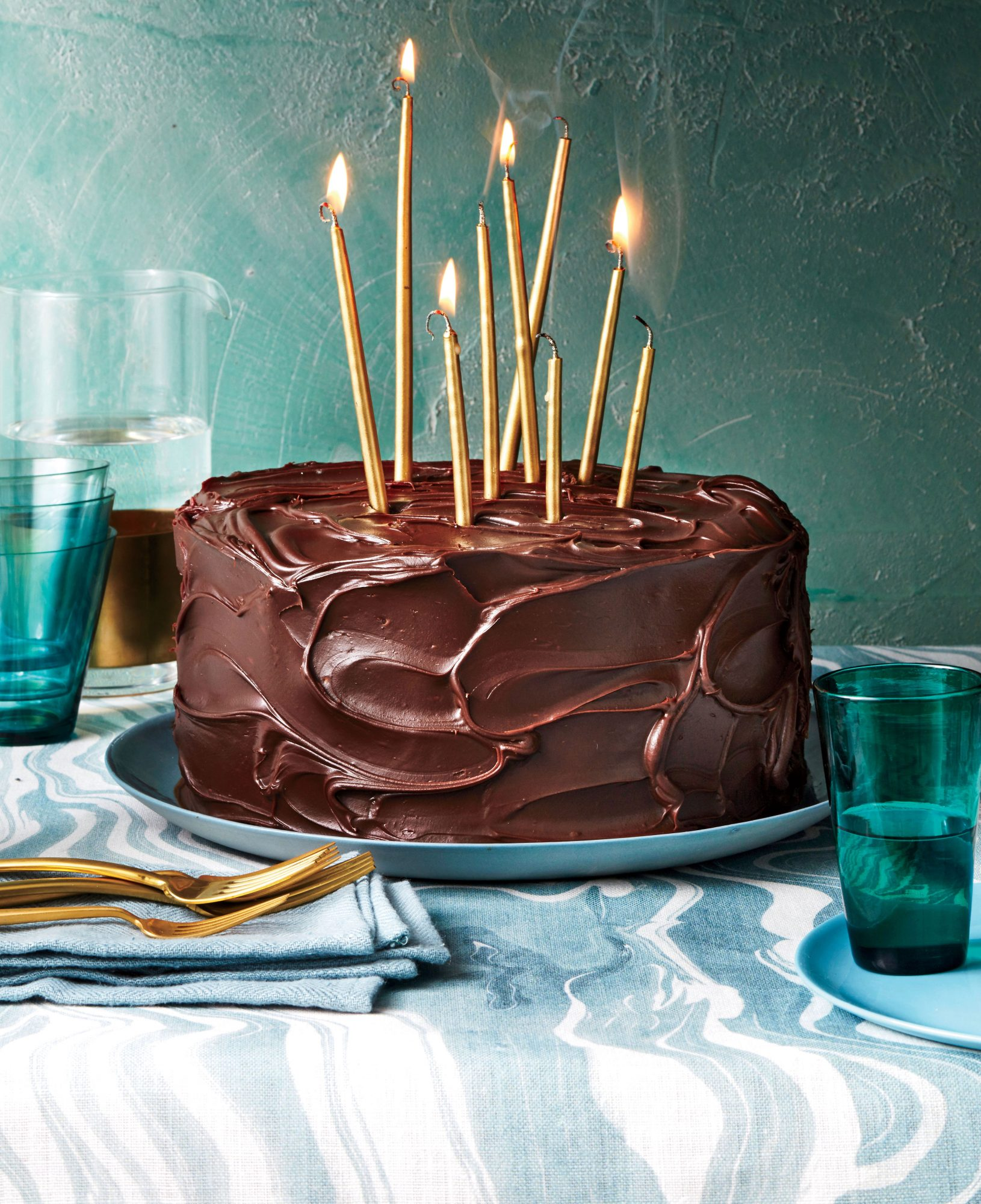 March- Triple-Layer Chocolate-Caramel Cake