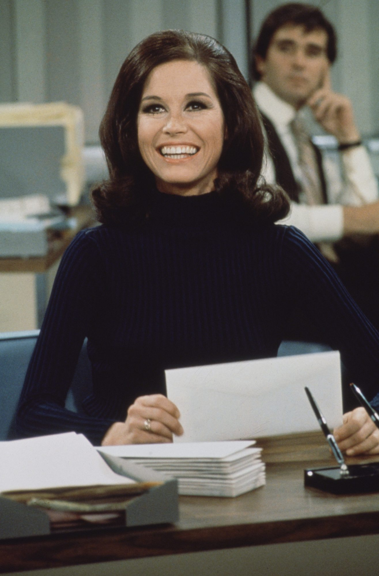 Mary Tyler Moore At Desk