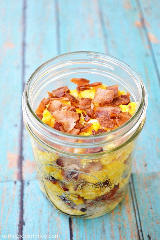 Mason Jar Breakfast To Go