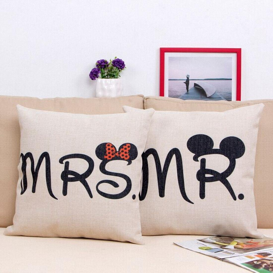 "Mickey and Minnie ""Mr."" and ""Mrs."" Pillow Cases"