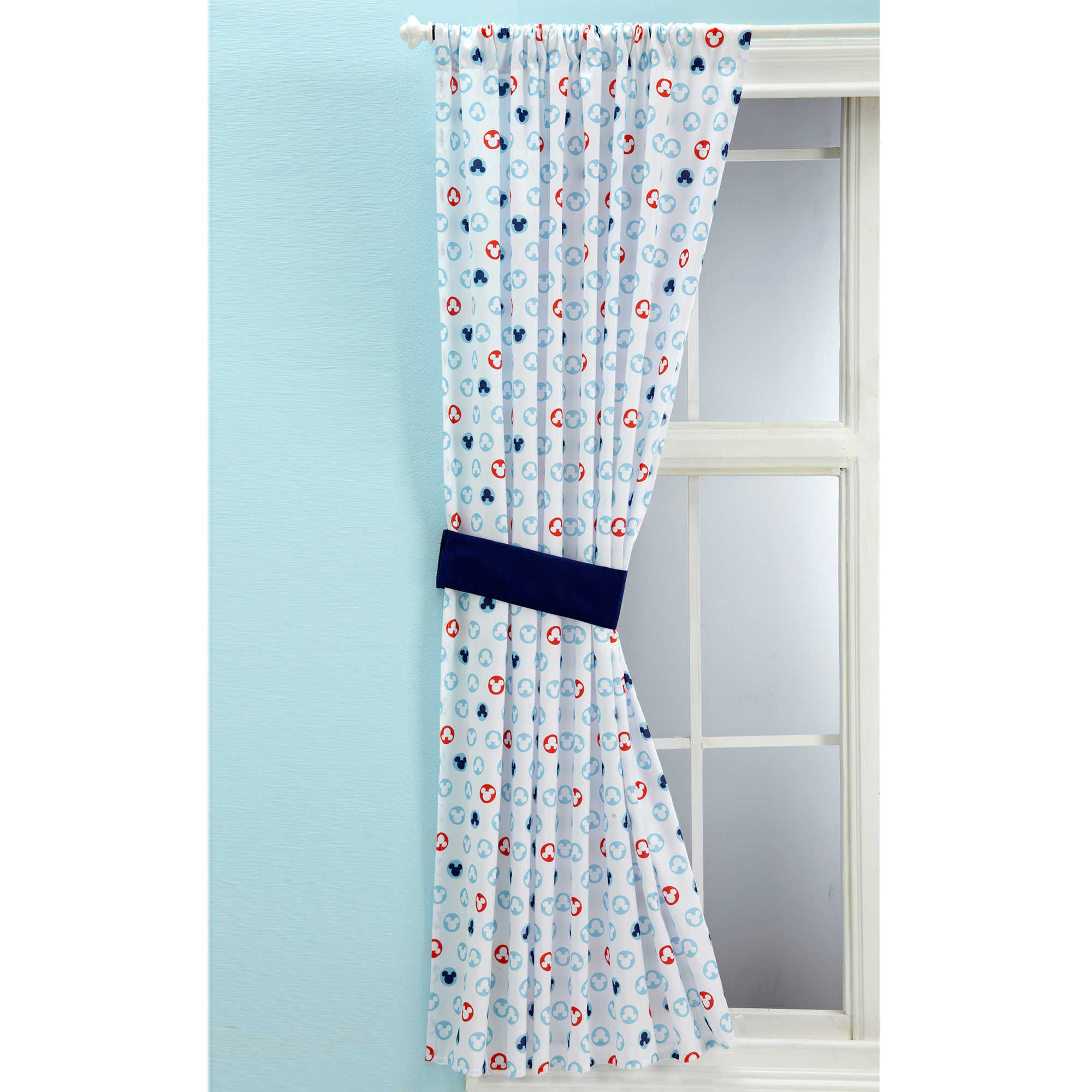 Mickey Mouse Window Curtain Panel
