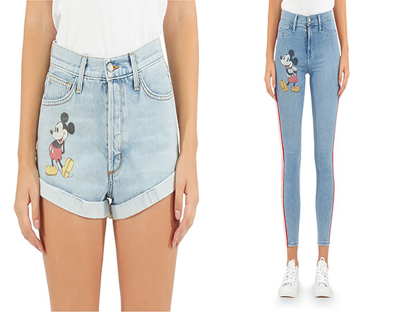 Mickey Mouse Shorts and Skinny Jeans