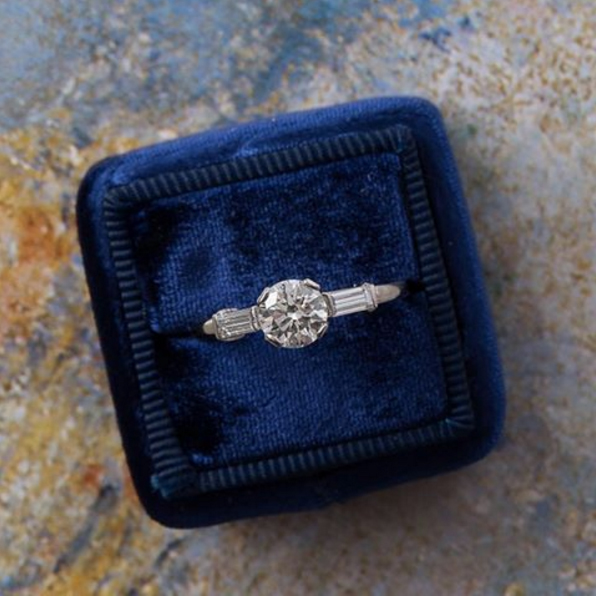 Mid-Century Engagement Ring