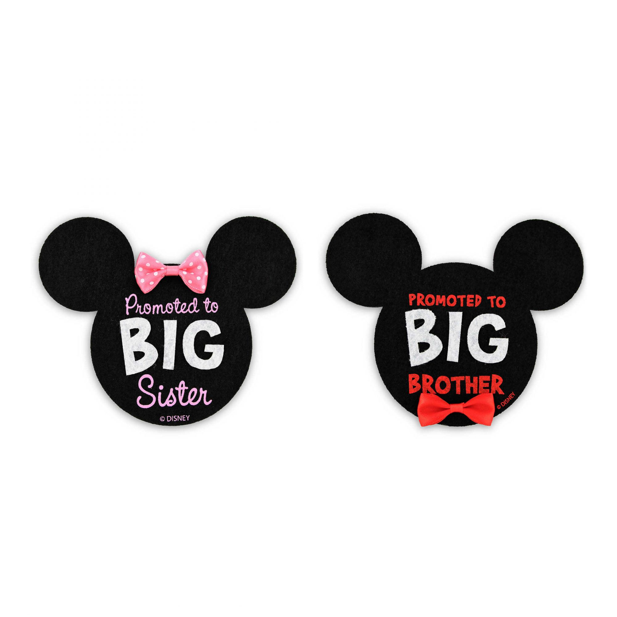 Minnie Big Sister and Mickey Big Brother Stickers