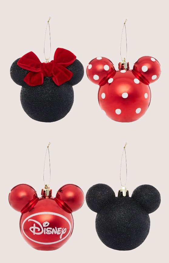 Minnie Mouse Christmas Ornaments