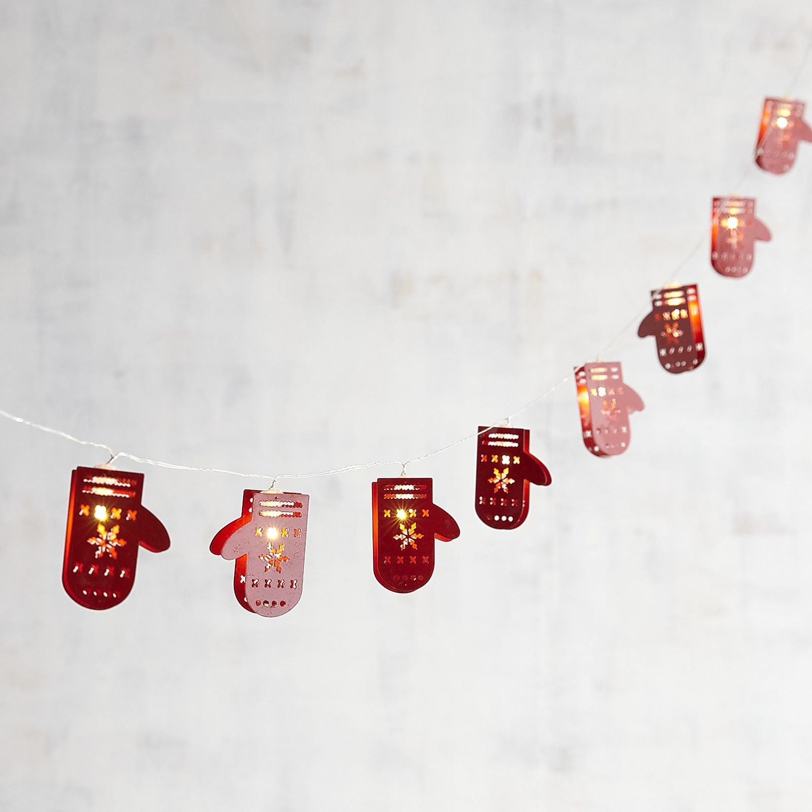 Stock Up On These Holiday Decorations Now Pier One Imports Mitten String Of Lights