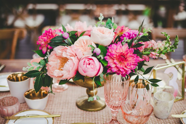 Peonies as a Centerpiece