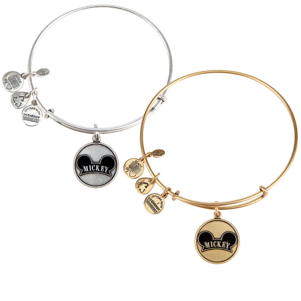 Mickey Mouse Cloisonne Charm Bangle by Alex and Ani