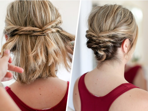 Multiple Twists Up-do