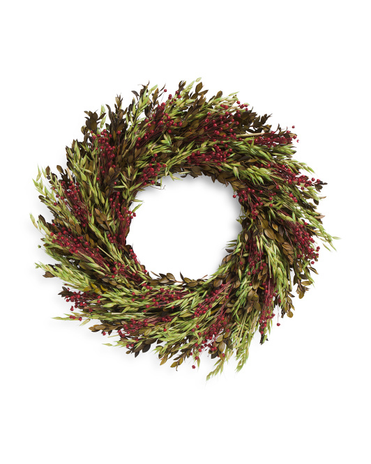 Myrtle And Berries Wreath