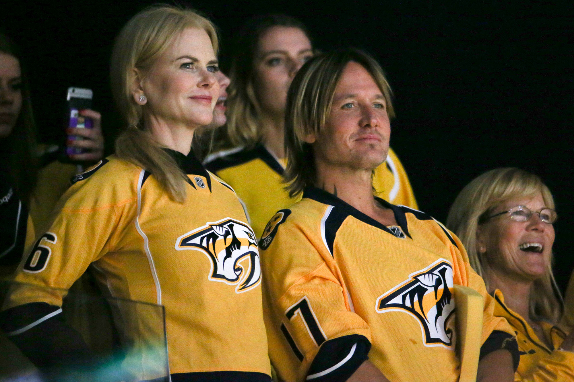 Nicole Kidman and Keith Urban Adorably Celebrate a Nashville Predators Goal at Stanley Cup Game