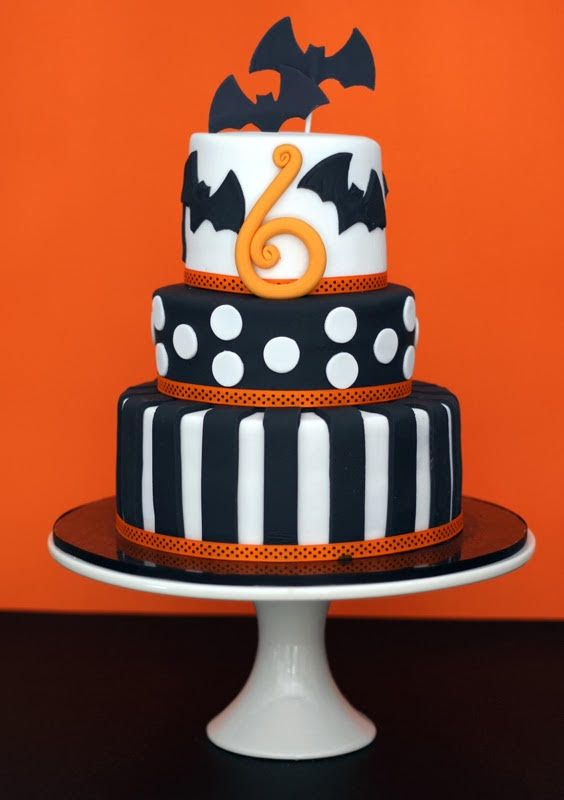 Stripes and Frights Birthday Cake