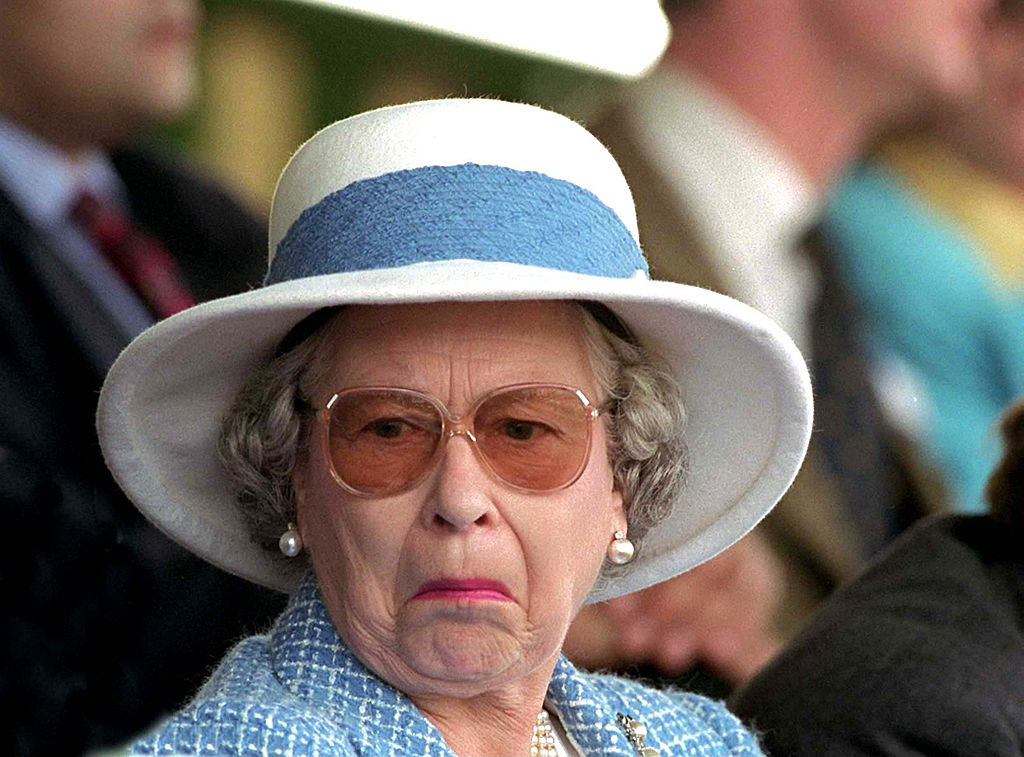Picture of Queen Elizabeth Not Amused