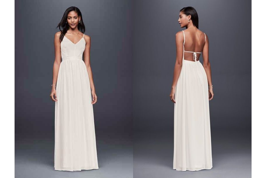 Pleated Chiffon Wedding Dress