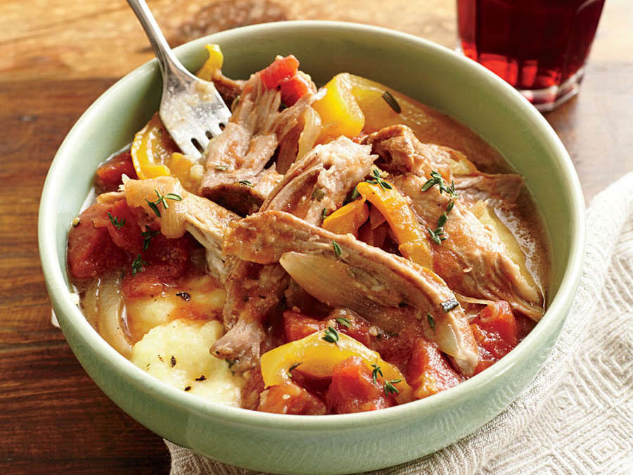 Italian-Braised Pork with Polenta