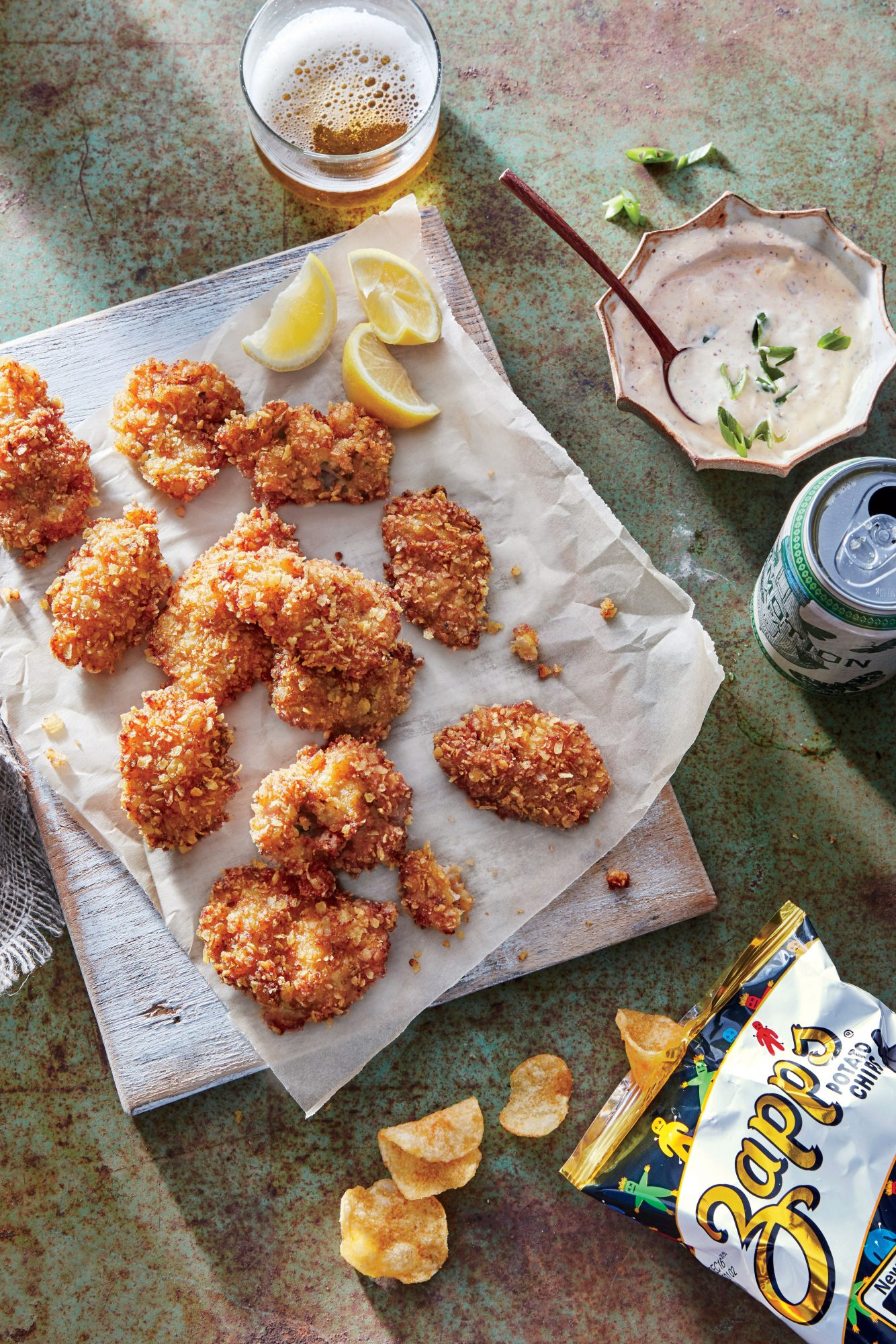 Potato Chip–crusted Fried Oysters