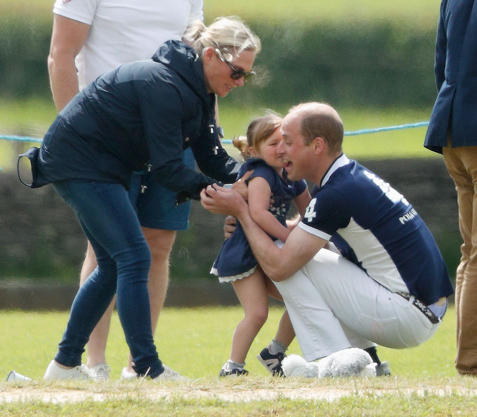 Prince William Chasing His Three-Year-Old Cousin Mia Hug